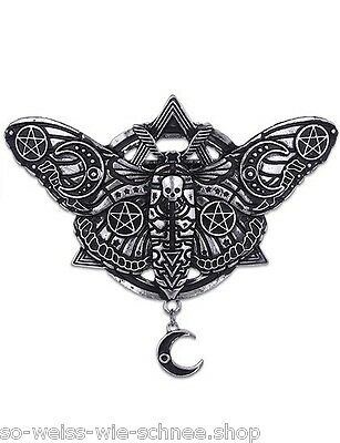 Restyle Haarspange Mond Motte Occult Moon Moth Gothic Hairclip Steampunk Clip