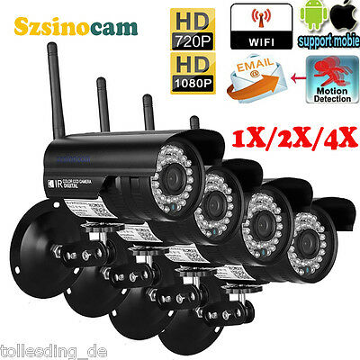 720P 1080P HD IP Camera ONVIF Wireless Outdoor CCTV WIFI Security System