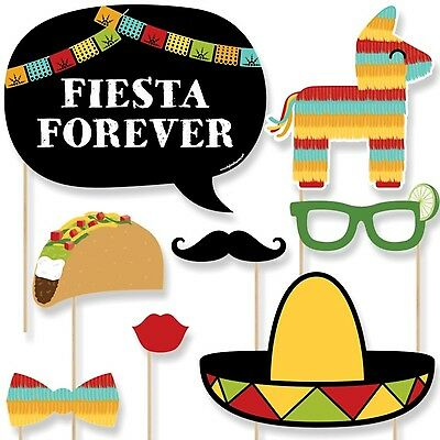 Mexican Fiesta - Mexican Themed Photo Booth Props Kit - 20 Count