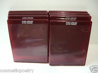 8 Quality New Dvd / Hd Dvd /Cd Cases In Oxblood Red - 12 mm Thick