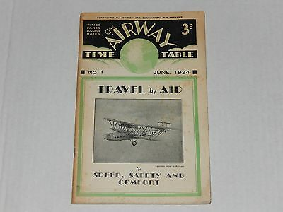 The Airway Time Table No1 1934