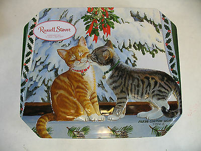 Russell Stover Chocolate Tin Cat pictures