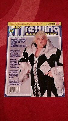 Pwi Wrestling Magazine December 1983 Dusty Rhodes Front Cover.
