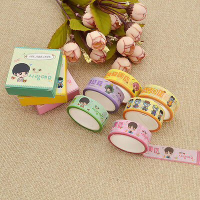 Kpop EXO BigBang G-Dragon Washi Tape Adhesive Stickers Park Chan Yeol SEHUN Hot