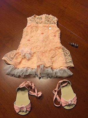 American Girl Shimmer & Lace party dress   NEW !!!!