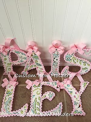"7 1/2"" Inch Hanging Nursery Wall Letters - Love Bird Damask"
