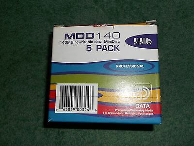 Pack Of 5 Hhb Data Minidiscs For Yamaha Md 8 / Md 4 Multi-Track Recorders
