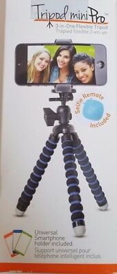 Universal Smartphone 3-in-1 Flexible miniPro Tripod with Remote & GoPro Adapter