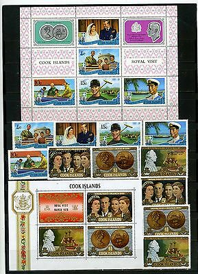 Cook Islands 1970-1971 Royalty Set Of 11 Stamps & 2 S/s Mnh