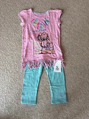 Girls 2 Piece Outfit Tunic Cropped Leggings From M&S  Age 9-10 Years ME TO YOU
