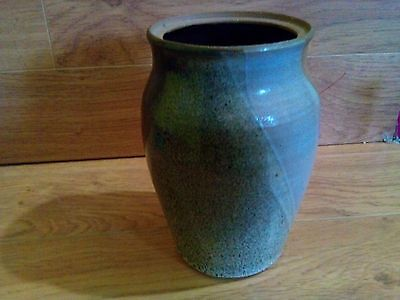 "Hand Crafted Signed Studio Art Tri Color Pottery 6"" Urn Shaped Vase"