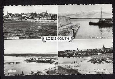 """LOSSIEMOUTH"" Multi View Postcard Scotland Moray"