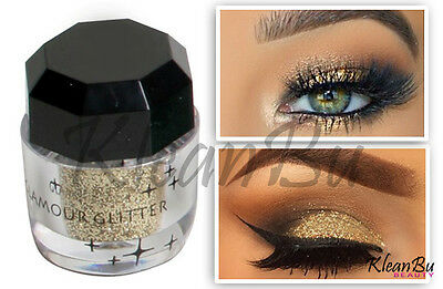 Gold Cosmetic Loose Glitter Powder for Eyeshadow, Nail Art, Body Shimmer Tattoo