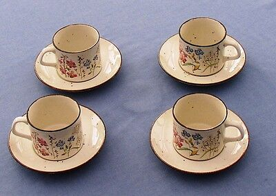 Meakin Lifestyle Wayside four cups and saucers