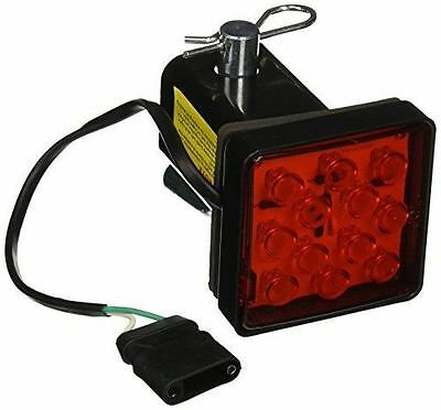 """2"""" Trailer Hitch Receiver Cover with 12 LED Brake Leds Light Tube Cover w/ Pin"""