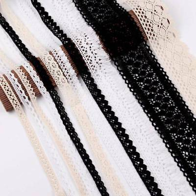 5Yd Vintage Polyester Cotton Lace Edge Trim Wedding Ribbon Applique Sewing Craft
