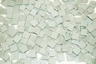 """100 1/2"""" Pale Gray Tumbled Stained Glass Mosaic Tiles"""
