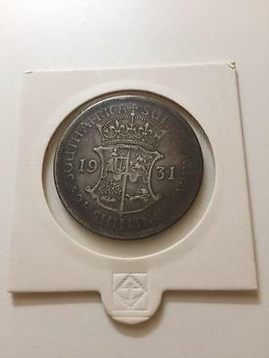 South Africa 1931 HALF CROWN - VF CONDITION - ULTRA RARE!