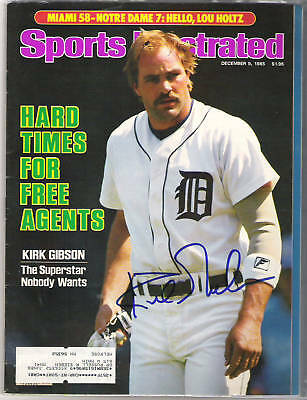 Kirk Gibson AUTOGRAPH SPORTS ILLUSTRATED DETROIT TIGERS SIGNED