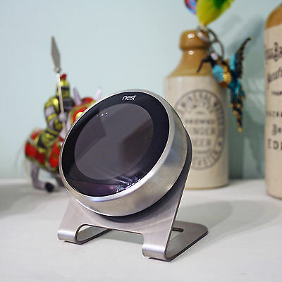 Retro Nest Thermostat Stand Brushed Stainless Steel for 2nd and 3rd Generation
