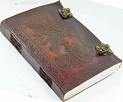 Antique Brown Leather Journal Diary Handmade - Leather Cord Coptic bound