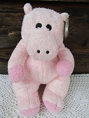 2009 TY Baby Pillow Pals HIPPOBABY With Rattle