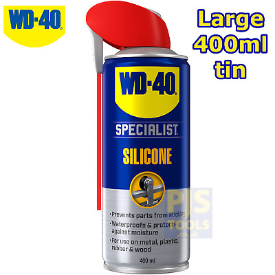 WD40 400ml silicone lubricant spray ** Large can size WD-40 **