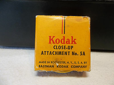 Vintage Kodak Close-Up Attachment No. 5A In Original Box & Case
