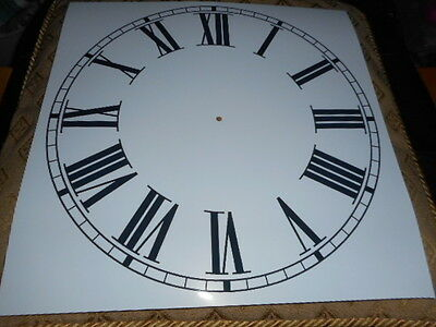 "Large Paper Clock Dial - 11 3/4"" M/T - Roman - Gloss White - Face/ Clock Parts"
