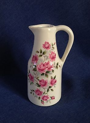 Rarer piece of Eastgate Pottery. Withernsea England. Jug. Pink Roses.