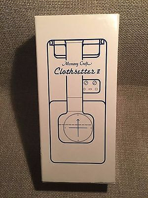 Janome Memory Craft Clothsetter II with Box and Instruction Sheet