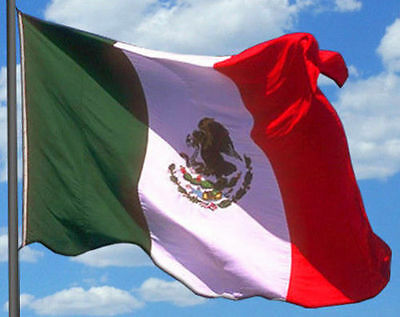 Flag of Mexico ~ 3 X 5 FEET, Polyester, Pole Sleeve (no grommets)