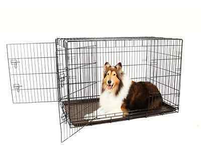 Carlson Secure and Compact Double Door Metal Dog Crate, Extra Large