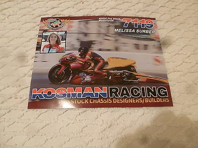 Nhra Handout/photo Melissa Surber 2016' Kosman Racing Ps Bike