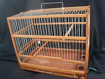 Amazing Wooden Bird Cage ,  Slide Out Tray, Plexiglas ;Hand Crafted ;