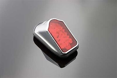 Feu rouge phare arriere chrome Harley Tombstone  taillight chopper bobber LED rd