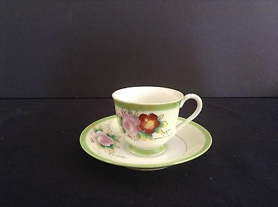 Vintage Miniature Tea Cup &  Saucer Floral design Occupied Japan,Christmas gift?