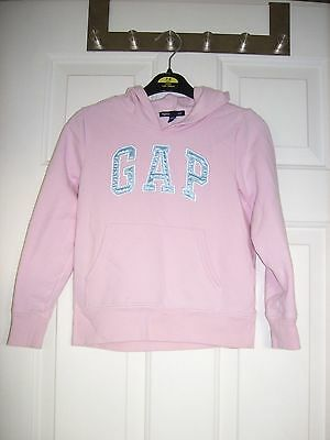 GAP girl's pink hooded fleece  - age 6-7 years - very good condition
