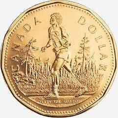 2005 Canada Terry Fox Marathon Of Hope $1 Dollar Bu Loonie