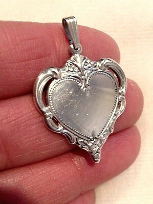 Vintage 1976 STERLING SILVER TOWLE Heart Pendant