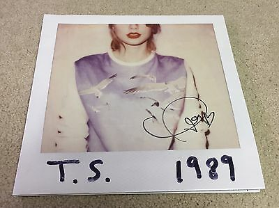 Taylor Swift Hand Signed Autographed 1989 Vinyl Pre-Order 100% Authentic Proof