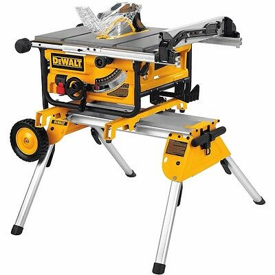 Dewalt DW475 Portable Site Saw 250mm Blade 1700w 240v + DE7400 Stand