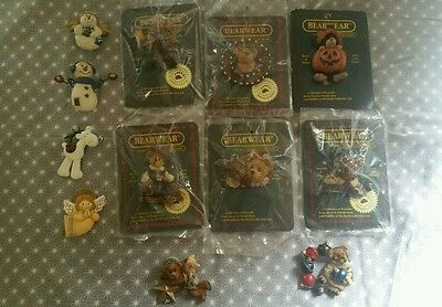 Lot of 11 Holiday Pins - Boyds Bears & Others