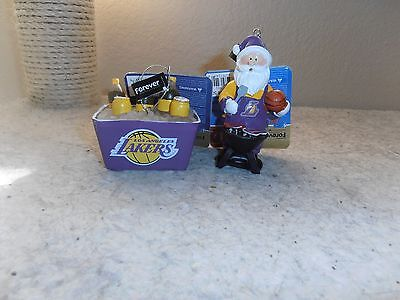 LA Lakers Christmas ornaments ice chest Official NBA