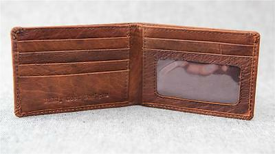 Leather Bifold Small Wallet W2S-ID Men slim credit card Men Billy Goat Designs