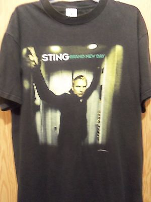 STING brand new Day Tour 2000 black graphic large t shirt