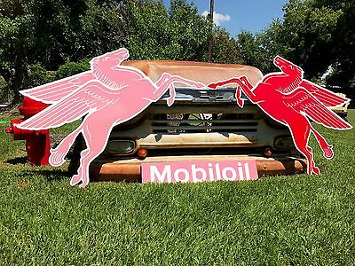 !!!! SALE !!!! Antique Vintage Old Look Mobil Pegasus Awesome Sign