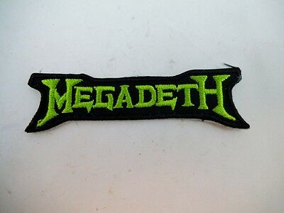 "Megadeth 3"" Iron On Embroidered Patch Speed Thrash Black Heavy Metal Punk"