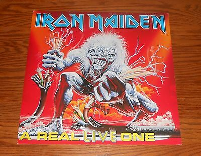 Iron Maiden A Real Live One Poster 2-Sided Flat Square Promo 12x12 RARE