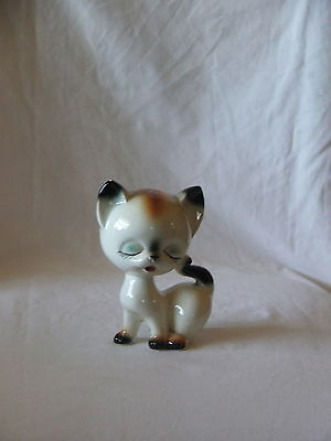 Vintage Retro Ceramic Pepper Shaker Whimsical Looking Cat Figurine Such a Cutie!
